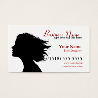signature in red business card