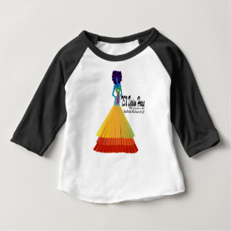 Signature Infant T-shirt w/Black Raglan Sleeve