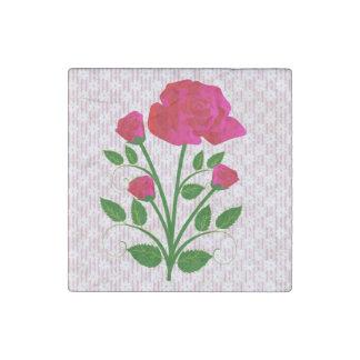 Signature Long Stem Rose Stone Magnet