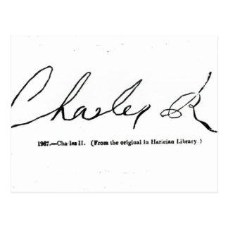 Signature of Charles II Postcard