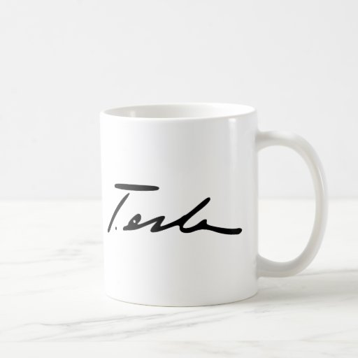 Signature of Electricity Genius Nikola Tesla Mug