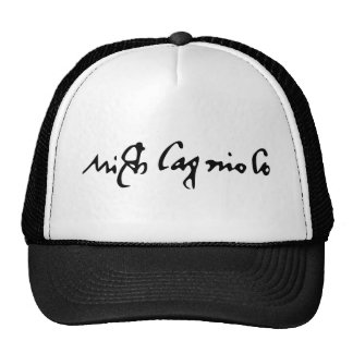 Signature of Famous Artist Michelangelo Cap