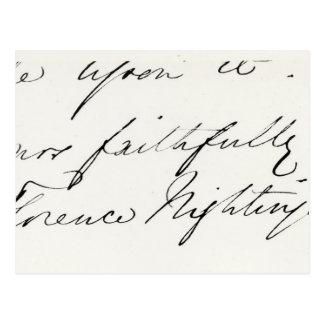 Signature of Florence Nightingale Postcard