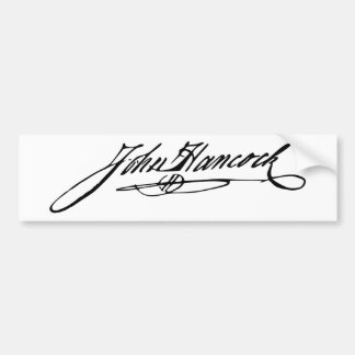 Signature of Founding Father John Hancock Car Bumper Sticker