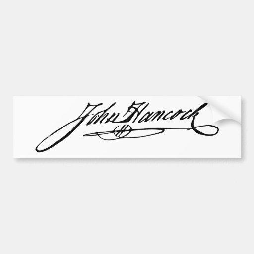 Signature of Founding Father John Hancock Bumper Stickers