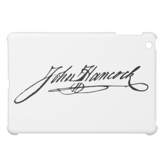 Signature of Founding Father John Hancock Case For The iPad Mini