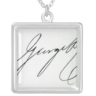 Signature of George IV Silver Plated Necklace
