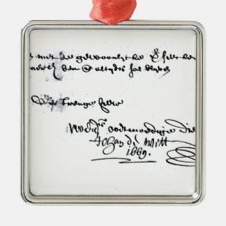 Signature of Johan de Witt Christmas Ornament