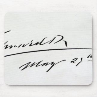 Signature of King Edward VII, May 29th 1906 Mouse Mat