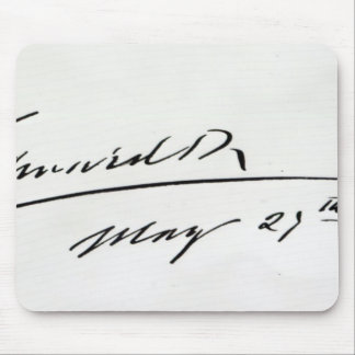 Signature of King Edward VII, May 29th 1906 Mouse Pad