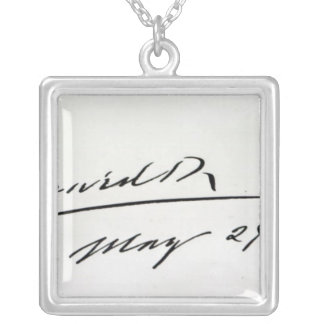Signature of King Edward VII, May 29th 1906 Silver Plated Necklace