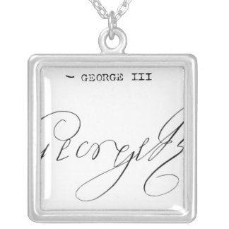 Signature of King George III Necklaces