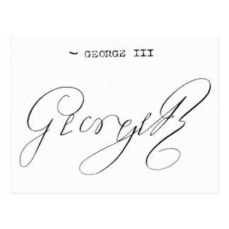 Signature of King George III Postcard