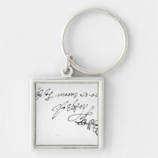 Signature of Lady Jane Grey Key Ring