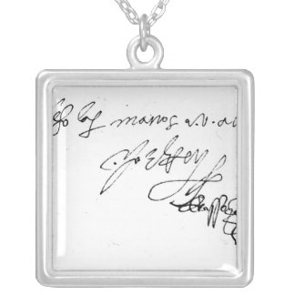 Signature of Lady Jane Grey Silver Plated Necklace