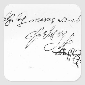 Signature of Lady Jane Grey Square Sticker