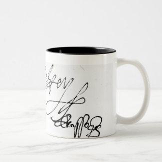 Signature of Lady Jane Grey Two-Tone Mug