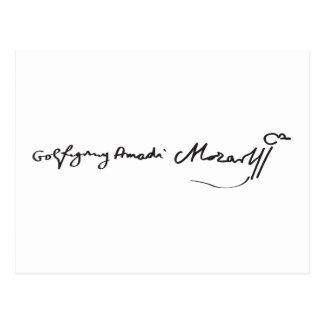 Signature of Musician Wolfgang Amadeus Mozart Post Cards