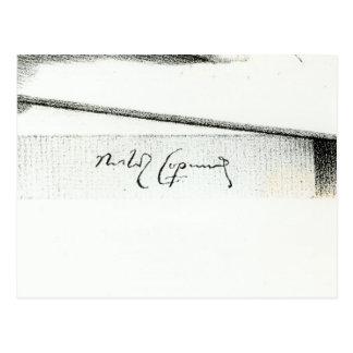 Signature of Nicolaus Copernicus Postcard