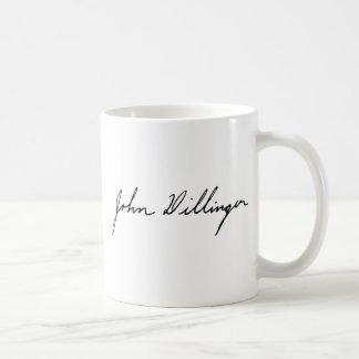 Signature of Notorious Outlaw John Dillinger Basic White Mug