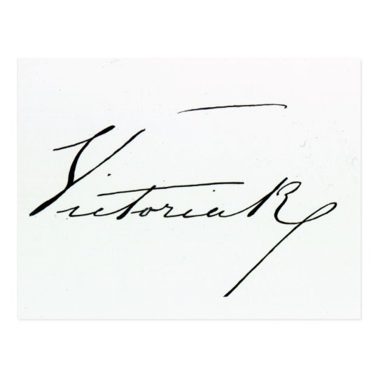 Signature of Queen Victoria (pen and ink on