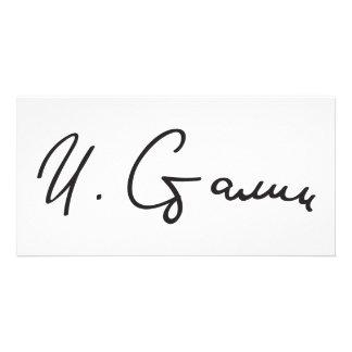 Signature of Soviet Union Premier Joseph Stalin Personalised Photo Card