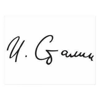 Signature of Soviet Union Premier Joseph Stalin Postcard
