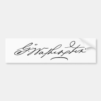Signature of U.S. President George Washington Bumper Sticker