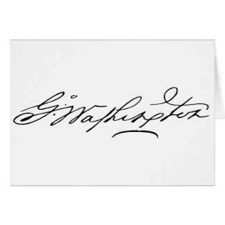 Signature of U.S. President George Washington Greeting Cards