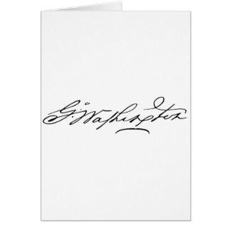 Signature of U.S. President George Washington Greeting Card