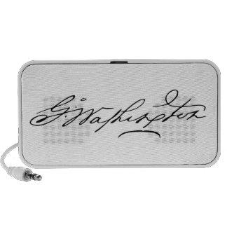 Signature of U.S. President George Washington Mini Speakers