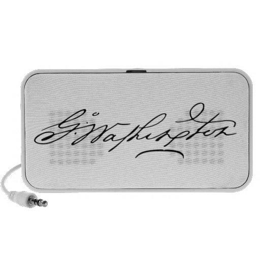 Signature of U.S. President George Washington Travel Speaker