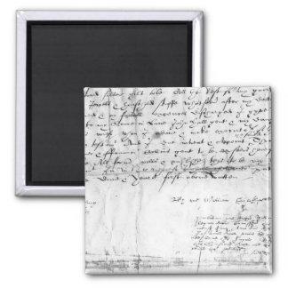 Signature of William Shakespeare , 1616 Magnet
