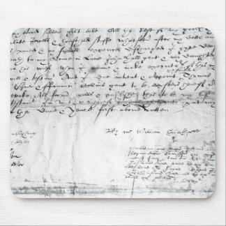 Signature of William Shakespeare , 1616 Mouse Mat