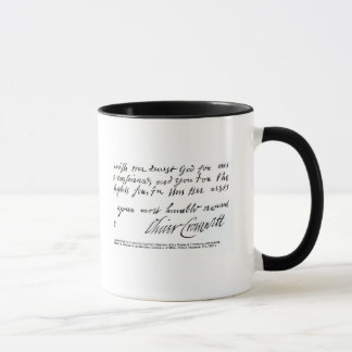 Signature Oliver Cromwell,from handwritten Mug