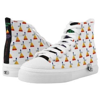 Signature TSX Design House Hi Top Sneaker Printed Shoes