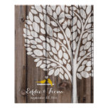 signature wedding guest book tree bird yellow wood