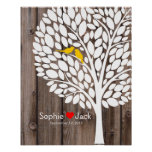 signature wedding guest book tree yellow wood