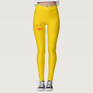 Signatured Golden Yellow Leggings