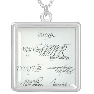 Signatures of Mary Queen of Scots Silver Plated Necklace