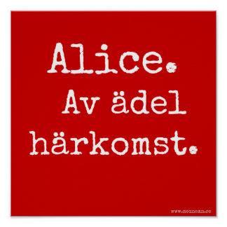 Signboard - Alice Poster