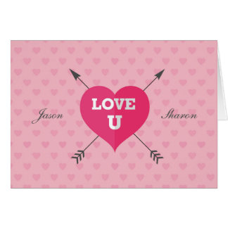Signed and Dated Love U Customisable Greeting Card
