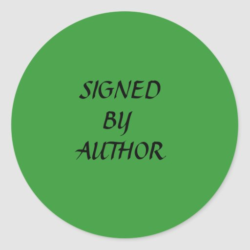 SIGNED, BY, AUTHOR STICKER