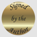 Signed by the Author Gold Sticker