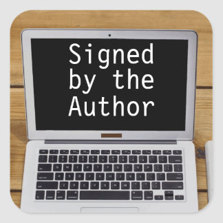 Signed by the Author Stickers Writer Laptop