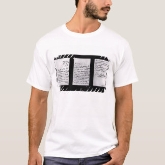 Signed letter, 1887 (pen and ink on paper) (b/w ph T-Shirt