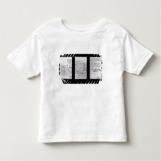 Signed letter, 1887 (pen and ink on paper) (b/w ph toddler T-Shirt