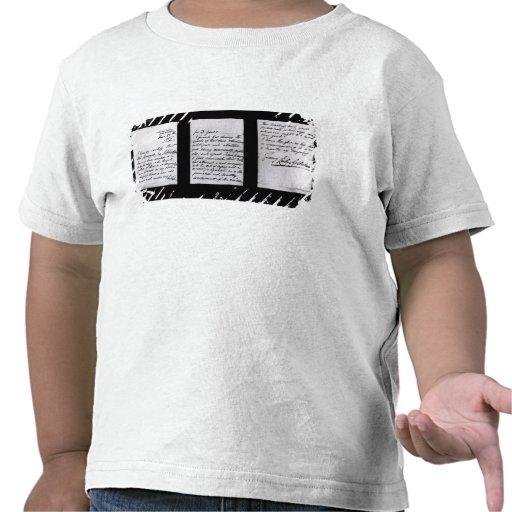 Signed letter, 1887 (pen and ink on paper) (b/w ph tee shirt
