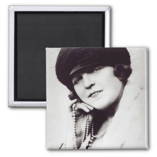 Signed photograph of Marie Lloyd Square Magnet