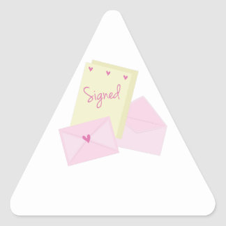Signed Stationary Triangle Stickers